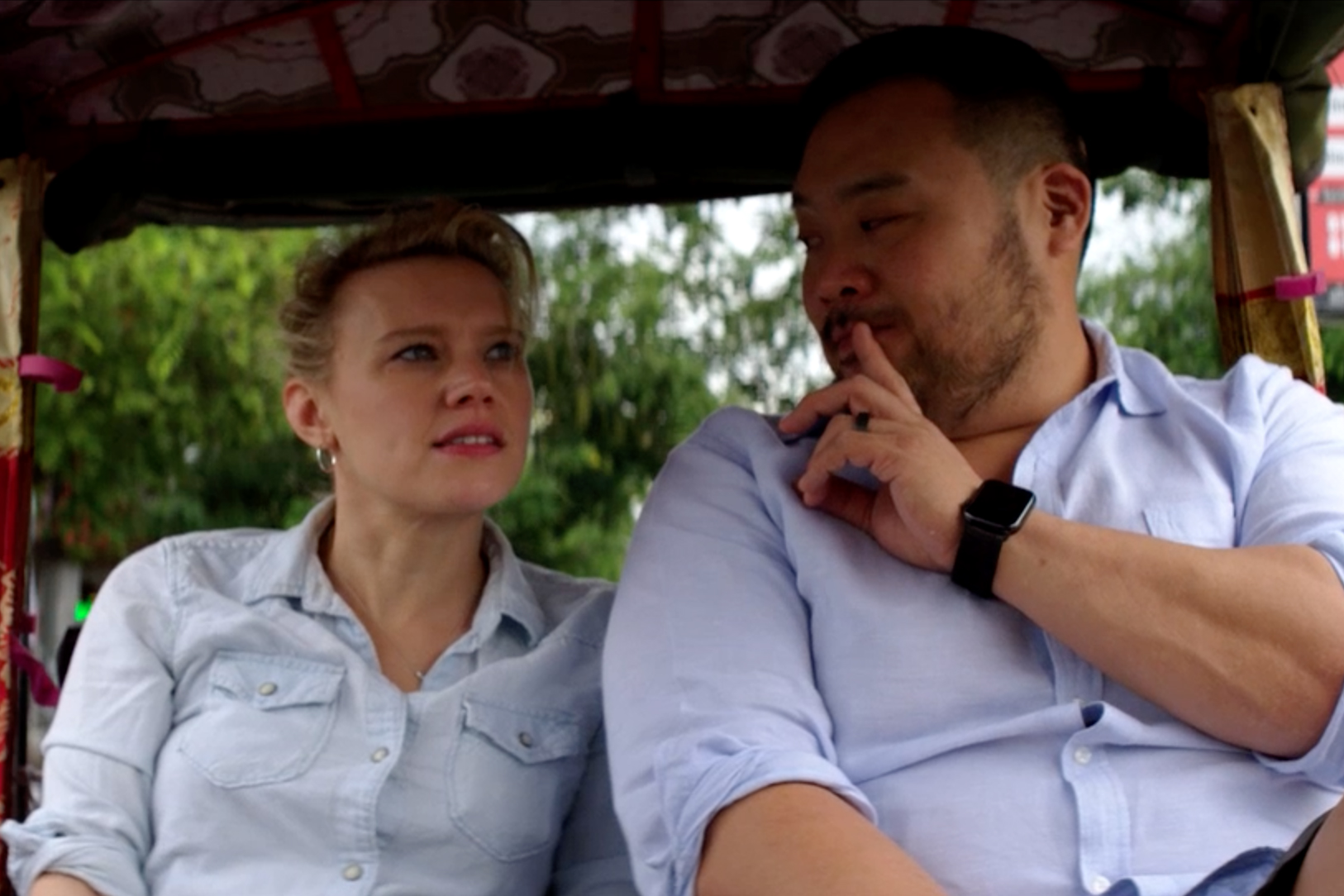 david chang and kate mckinnon chat