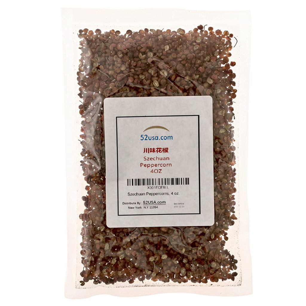 bag of sichuan peppercorns
