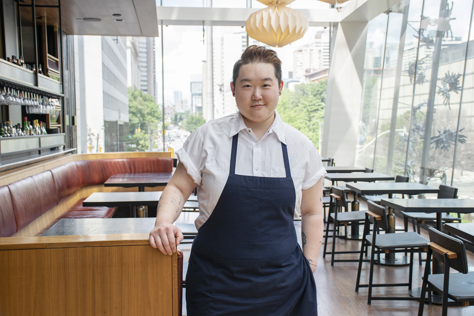 chef eva chin standing in kojin