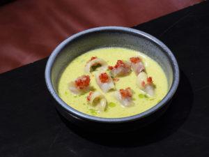 plate of kanpachi ceviche