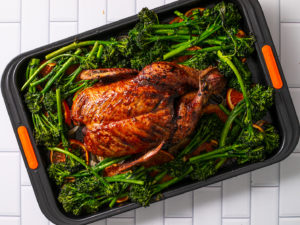 whole roasted duck sheet pan
