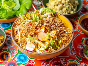 Crunchy Noodle Coleslaw with Sesame Soy Dressing