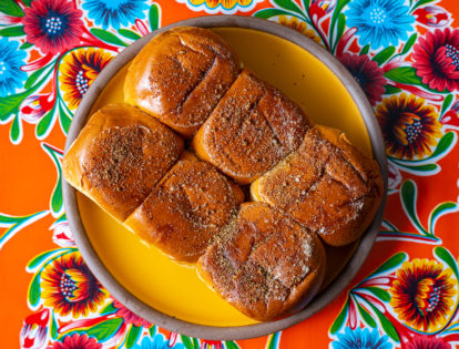 savory miso butter rolls