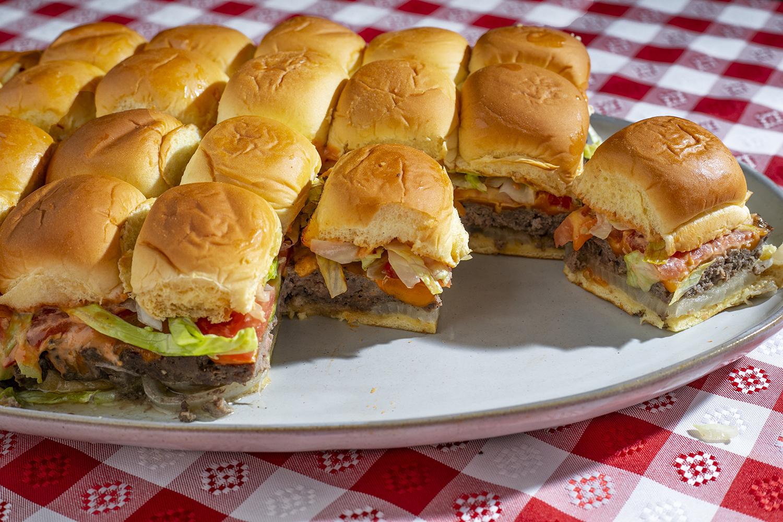 Sheet Pan XL Burger with Special Sauce