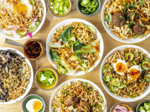 noodle toppings on momofuku dried noodles
